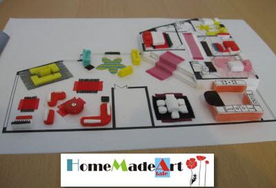 ماکت سازی با وسایل ساده هنری، عمرانی، آموزشی - دکوراسیون ( Interior design )